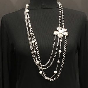 Long 4 Strand Statement Necklace